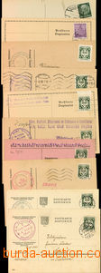 26548 - 1942 comp. 10 pcs of official cards parish offices franked w