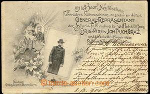 26572 - 1900 Otto Baar, Nový Jičín , advertising postcard prodejc
