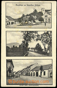 26624 - 1930 STARÝ JIČÍN - 3-views, square, street, Us, without s