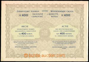 26650 - 1917 Shares on/for 400 K Západočeských factories kaolinových