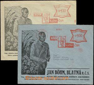 26658 - 1932 sestava 2ks obálek s reklamním přítiskem a OVS firm