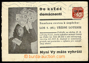 26660 - 1941 advertising PC Class lottery with with overprint GD-OT