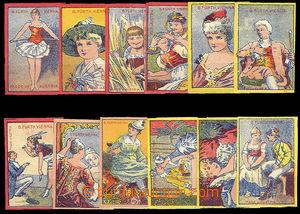 26676 - 1900 AUSTRIA  complete 12 pcs of set B.Fürth dull, size 4/4