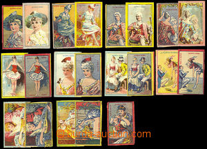 26677 - 1900 AUSTRIA  11 pcs of set dull + 10  pcs glossy, B.Fürth,