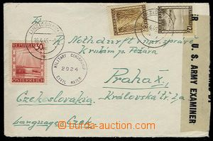 26725 - 1946 censored letter from Linz to Prague, with Mi.742, 747,