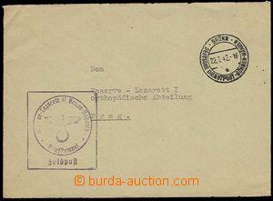 26736 - 1942 dopis polní pošty zaslaný mezi nemocnicemi, DR Deuts