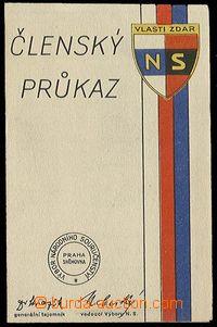 26742 - 1940 Členský průkaz Národního souručenství, nevyplně
