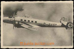 26744 - 1941 photo postcard letícího aircraft Junkers Ju 86, tail