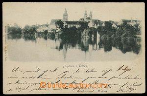 26755 - 1899 TELČ - jednobarevný záběr přes vodu, nákladem E.Šolce,