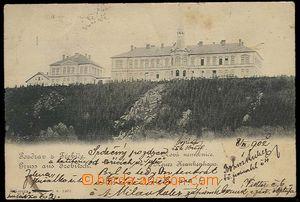 26758 - 1902 TŘEBÍČ - jednobarevný pohled na novou nemocnici, náklad