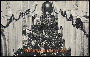 26759 - 1914 TŘEBÍČ - vnitřek zámeckého chrámu, jednobarevná, náklad