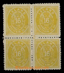 26770 - 1873 Mi.5B as blk-of-4, on reverse light hints of conglutina