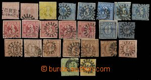 26773 - 1849 - 62 selection of 24 pcs of postage stmp numeral(s) in