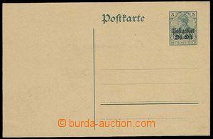 26793 - 1916 LITHUANIA Mi.P 1 with overprint Postgebiet/ Ob.Ost on/f