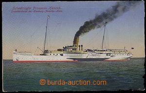 26804 - 1918? color postcard,  steamship Princess Jindřiška, line