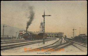 26805 - 1910? CHINA  railway-station and railway yard in/at Kowloonu