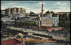 26811 - 1918 ISTANBUL - vojenská přehlídka v Cařihradě, minaret