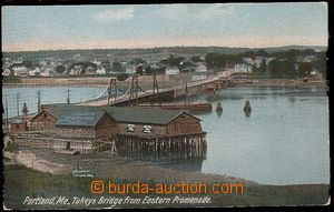 26812 - 1907 PORTLAND - color postcard, view of bridge, Us to Prague