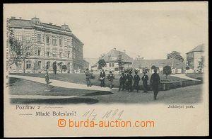 26818 - 1899 Mladá Boleslav, Jubilejní park s postavami, DA, jednoba