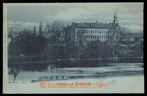 26819 - 1899 Nymburk, záběr přes vodu, modrozelený tón, DA, nepoužit