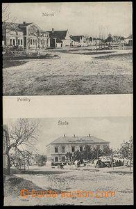 26820 - 1910? POTĚHY - 2-záběrová (náves a škola), čb, nepoužitá, pě