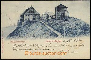 26821 - 1899 Krkonoše, Sněžka, namodralý tón, prošlá, DA, skvrny
