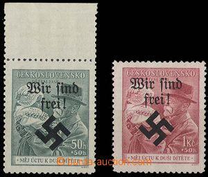 26839 - 1938 Moravská Ostrava, přetisk Wir sind frei na známkách