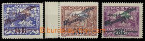 26876 - 1920 Pof.L1-3, I. letecké provizorium, zoubkované, levněj