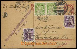 26885 - 1922 Länderbank Teplice - Šanov, CDV23 zaslaná do Konstan