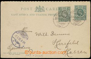 26919 - 1905 question part PC Asch.3, uprated with stamp Mi.17, to G