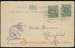 26919 - 1905 dotazní část dopisnice Asch.3, dofr. zn. Mi.17, zasl