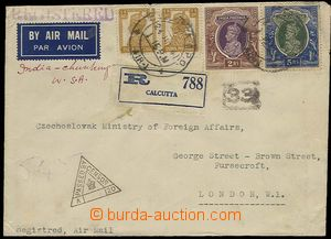 26921 - 1947 R+Let-dopis do Londýna, vyfr. zn. SG.269 2x, 260-1, DR