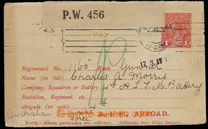 26925 - 1917 postal stationery cover for army (Military Envelope), c