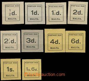 26930 - 1925 doplatní známky Mi.1-10, nálepky, část známek sto