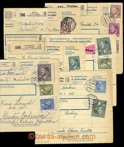 26931 - 1943-44 sestava 6ks větších dílů balíkových průvodek
