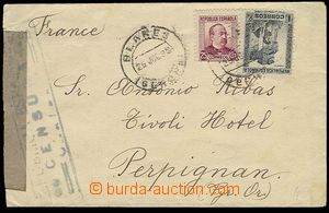 26942 - 1938 letter to France, with Mi.630, 627, CDS Blanes Gerona/
