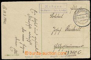 26950 - 1940 RADAUN / über Wegstädtl (Radouň - Štětí), pěkný