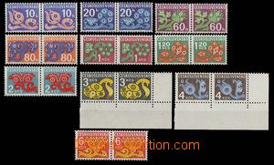 26966 - 1971 Pof.D92-93, 95-101, 103, all horiz. pairs on paper opti