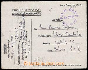 27000 - 1946 pošta válečných zajatců, dopisnice od německého