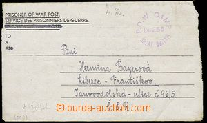 27001 - 1946 pošta válečných zajatců, skládaný dopis od něme