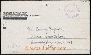 27002 - 1946 pošta válečných zajatců, skládaný dopis od něme