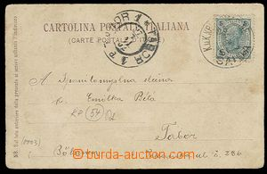 27021 - 1902 S.M.S. SAIDA/ 25.7.02, thin/light circular pmk, postcar