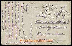 27027 - 1916 S.M. SCHIFF ASPERN round black postmark with eagle + CD