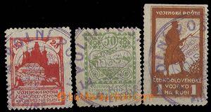 27072 - 1919 Pof.PP2-4, line perf 11½;, postmark FP from favor,