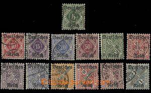 27075 - 1920 Mi.52-56, Mi.57-64, služební známky, přetisk Deutsc