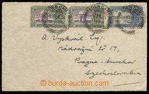27086 - 1931 letter franked with. indickými stamp. 2x 1/2A and 2As,