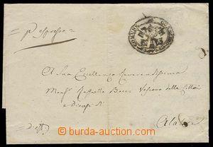27090 - 1881 church pre-philatelic folded letter, Ex offo, oval pmk