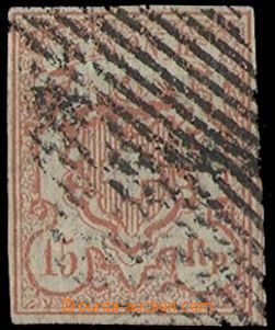 27098 - 1852 Mi.12, bigger numerals, linear postmark, cat. 130€