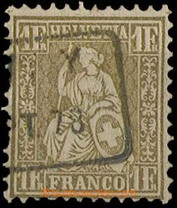 27099 - 1862 Mi.28, part frame postmark, nice, cat. 110€