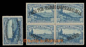 27119 - 1938 Mi.734, 735/I-IV., overprint on one stamp also on/for b